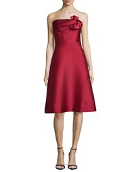 Erin Fetherston Katie Strapless Fit And Flare Dress Red
