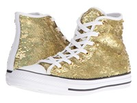Converse Chuck Taylor All Star Holiday Party Hi Gold White Black Women's Shoes