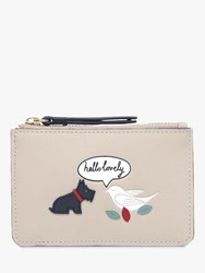 Radley Hello Lovely Leather Small Zip Top Coin Purse Dove Grey