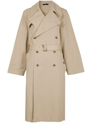 Bassike Classic Trench Coat Brown