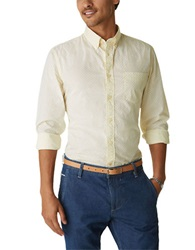 Dockers Laundered Plus Print Sportshirt Off White