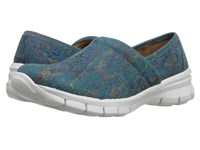 Nurse Mates Libby Teal Tie Dye Women's Clog Shoes Blue