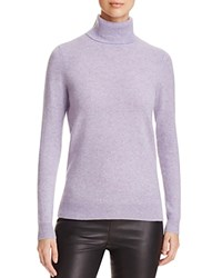 Bloomingdale's C By Cashmere Turtleneck Sweater Marled Violet