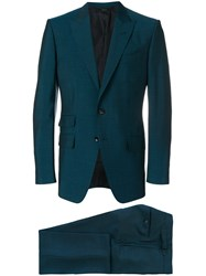 Tom Ford Sharkskin Single Breasted Suit Blue