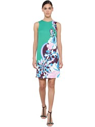 Emilio Pucci Printed Jersey Dress Green