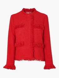 Lk Bennett L.K.Bennett Myia Tweed Jacket True Red