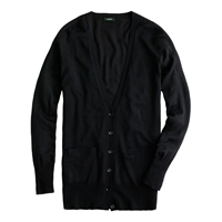 J.Crew Classic Merino Wool Long Cardigan Black