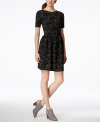 Bar Iii Textured V Back Fit And Flare Dress Only At Macy's