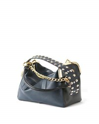 Sacai Studded Leather Coin Purse Bag Black