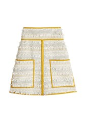 See By Chloe High Waisted Woven Mini Skirt