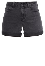Noisy May Nmbe Lucy Denim Shorts Dark Grey Denim