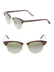 Ray Ban Clubmaster Tortoise Shell Square Sunglasses Green