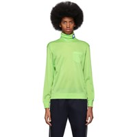 Prada Green Jersey Turtleneck