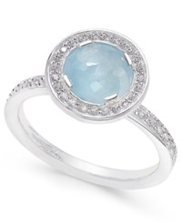 Thomas Sabo Light Of Luna Milky Aqua Ring 1 5 8 Ct. T.W. In Sterling Silver