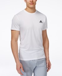 Adidas Men's Big And Tall Essential Tech T Shirt White