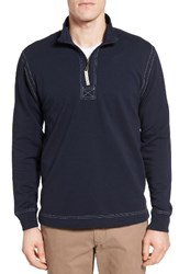 True Grit Men's Half Zip Pullover Navy