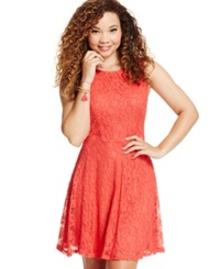 Speechless Juniors' Lace Skater Tank Dress