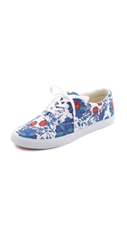 Bucketfeet Floral Sneakers Blue Red