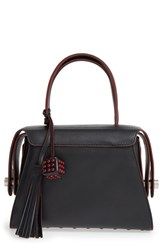 Tod's 'Twin' Leather Satchel Black