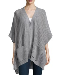 Loma Zip Front Wool Cashmere Poncho Size M L Husky