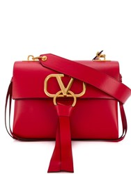 Valentino Garavani Small V Ring Shoulder Bag Red