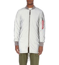 Alpha Ma1 Reflective Shell Coat Silver