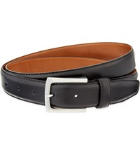 Reiss Reicer Leather Belt Brown