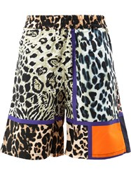 Pierre Louis Mascia Leopard Print Shorts Multicolour