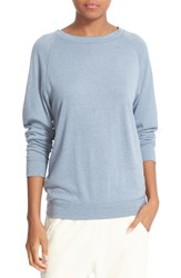 Vince Women's Pima Cotton And Cashmere Knit Top Scrub