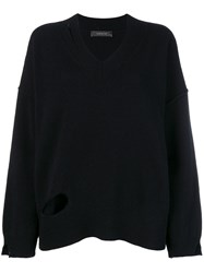 Federica Tosi Cut Out Knit Sweater Black