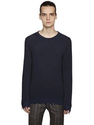 Etro Distressed Cotton Knit Sweater