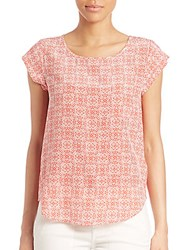 Joie Rancher Silk Blouse Coral Rose
