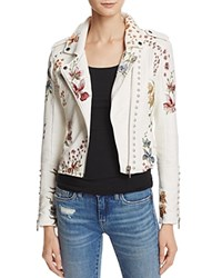 Blank Nyc Blanknyc Floral Embroidered Studded Faux Leather Moto Jacket Midsummer Dream
