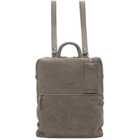 Marsell Grey Suede Scatolaino Backpack