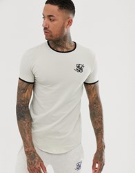 Sik Silk Siksilk Ringer T Shirt In Beige Stone