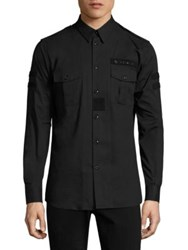 Givenchy Military Velcro Patch Shirt Black