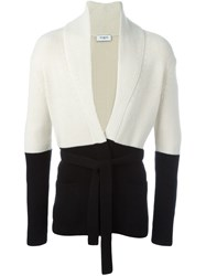 Ports 1961 Colour Block Cardigan Black