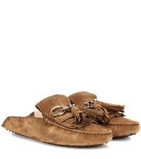 Tod's Suede Mules Brown
