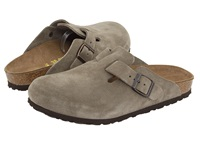 Birkenstock Boston Suede Unisex Taupe Suede Clog Shoes