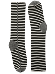 Haider Ackermann Striped Wool Long Socks White Black