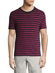 Officine Generale Jersey Stripe Tee Navy Red