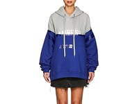Ambush Layered Look Bi Color Cotton Hoodie Gray