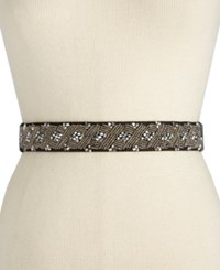 Inc International Concepts Clustered Beaded Stretch Belt Only At Macy's Black
