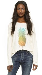 Wildfox Couture Rainbow Pineapple Sunrise Shirt Pearl