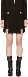 Versus Black Kilt Mini Skirt
