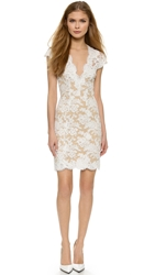 Reem Acra Lace Cocktail Dress White