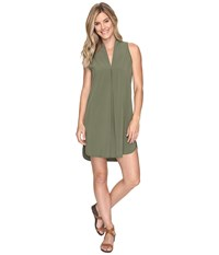 Lucy Destination Anywhere Dress Rich Olive Women's Dress Metallic