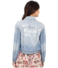 Billabong Find Your Wild Jacket Light Well Worn Women's Coat Blue
