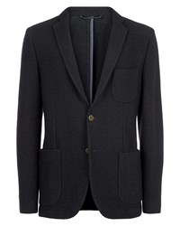 Jaeger Men's Boiled Wool Jersey Jacket Black