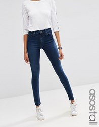 Asos Tall Ridley Skinny Jean In Minx Wash Blue